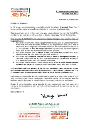 Argenteuil avec vous Jean Vilar 31jan2020
